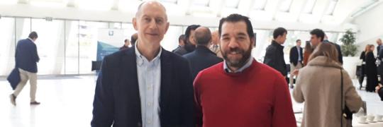 Presidente Fenitel Luis Vigil acompañado de Nacho López, vocal de la Junta